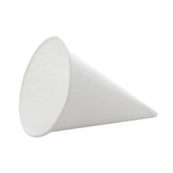 Cône papier blanc