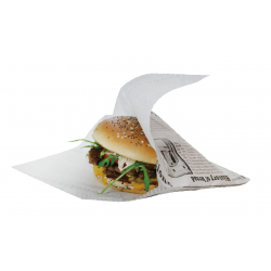Pochette papier pour hamburger